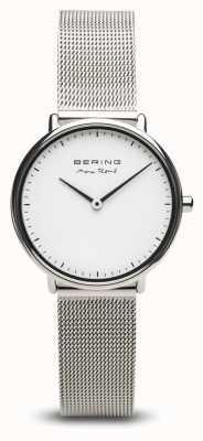 Bering | max rené | prata polida para mulher | pulseira de malha de aço | 15730-004