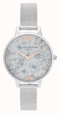 Olivia Burton | mulheres | terrazzo floral | pulseira de malha de prata | OB16TZ06