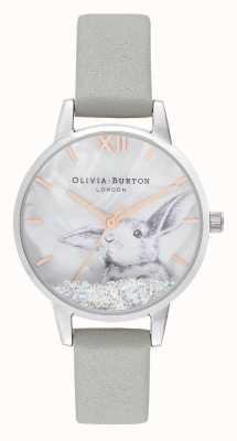 Olivia Burton | mulheres | país das maravilhas do inverno | coelho de cristal globo de neve | OB16WL86