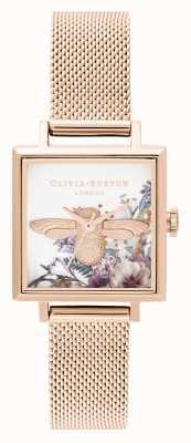 Olivia Burton | mulheres | jardim encantado | Abelha 3d | malha de ouro rosa | OB16EG152