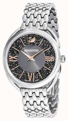 Swarovski | glamour cristalino | pulseira de aço inoxidável | mostrador cinza 5452468