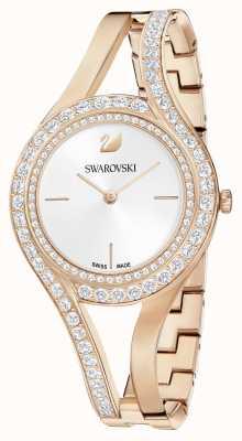 Swarovski | eterno | pulseira de aço ouro rosa | conjunto de cristal | branco 5377576