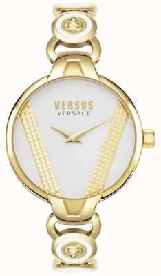 Versus Versace | Saint Germain | aço inoxidável banhado a ouro | mostrador branco | VSPER0219
