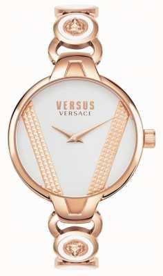 Versus Versace | Saint Germain | aço inoxidável tom de ouro rosa | mostrador branco VSPER0419