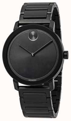 Movado | negrito | pulseira de aço inoxidável preto | mostrador preto | 3600538