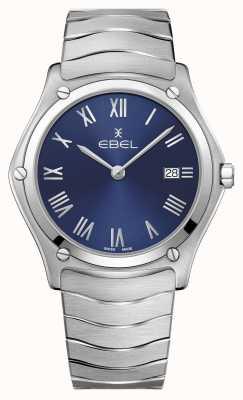 EBEL | esporte clássico masculino | pulseira de aço inoxidável | mostrador azul 1216420A
