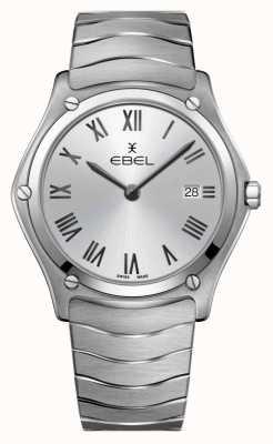 EBEL esporte clássico masculino   pulseira de aço inoxidável   mostrador prateado 1216455A
