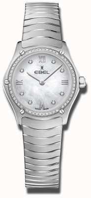 EBEL | esporte clássico feminino | aço inoxidável dial de diamante 1216475A