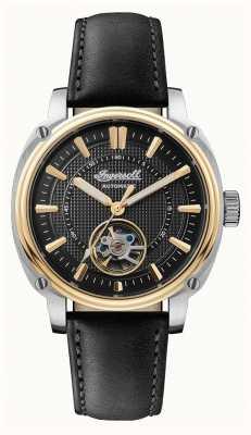Ingersoll | o diretor automático | pulseira de couro preto | mostrador preto I08102