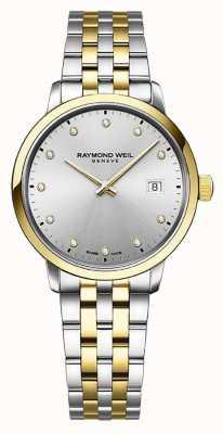 Raymond Weil | toccata para senhora | aço inoxidável bicolor | mostrador prateado | 5985-STP-65081