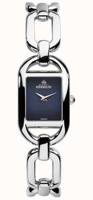 Michel Herbelin Bracelete de aço inoxidável com mostrador azul kyudo para mulher 17471/B05