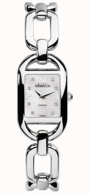 Michel Herbelin Bracelete de aço inoxidável de discagem e mop de diamante kyudo 17471/B89