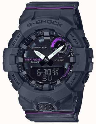 Casio | esquadrão g-choque | pulseira de borracha cinza | bluetooth smart GMA-B800-8AER