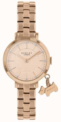 Radley Selby street relógio banhado a ouro rosa RY4398