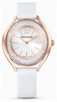 Swarovski | mulheres | aura cristalina | pulseira de couro branco | 5519453