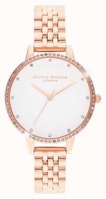 Olivia Burton   mulheres   moldura do arco-íris   pulseira de ouro rosa   OB16RB21