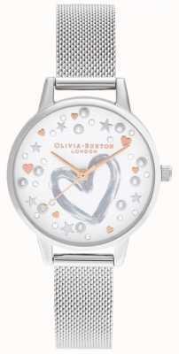 Olivia Burton Pulseira de malha em ouro rosa e prata OB16LH12