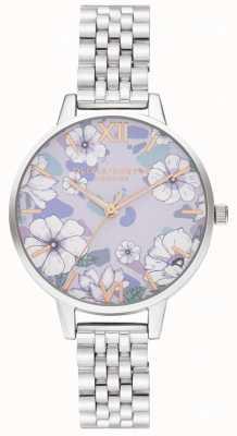 Olivia Burton Groovy blooms pulseira de ouro e prata rosa OB16AN05