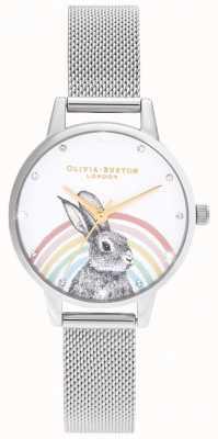 Olivia Burton Coelho de arco-íris, malha de ouro e prata OB16WL89