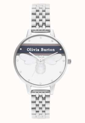 Olivia Burton | mulheres | abelha sortuda do time do colégio | pulseira de prata | OB16VS07