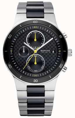 Bering | mens | pulseira em aço cerâmico | relógio cronógrafo | 33341-749