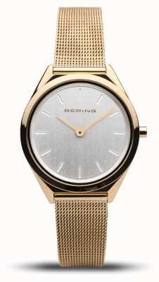 Bering | unissex | ultrafino | pulseira de malha de ouro | 17031-344