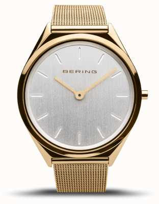 Bering | unissex | ultrafino | pulseira de malha de ouro | 17039-334