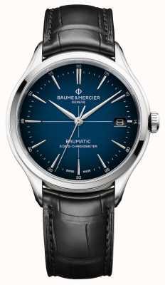 Baume & Mercier Clifton | baumática | quadro azul do quadro | alça preta M0A10467