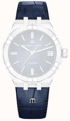 Maurice Lacroix Apenas pulseira de couro azul de imitação de crocodilo (sem fivela) ML800-005036