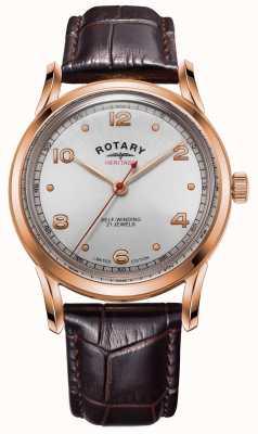 Rotary Herança de edição limitada masculina | caixa de ouro rosa | GS05144/70