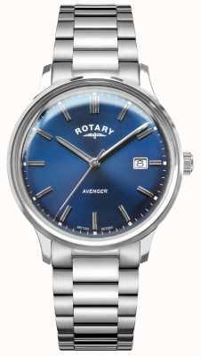 Rotary Vingador masculino | pulseira de aço inoxidável | mostrador azul GB05400/05