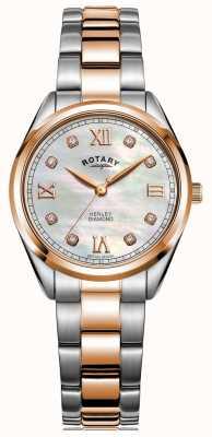 Rotary Henley das mulheres | pulseira de aço bicolor | dial de diamante LB05112/41/D