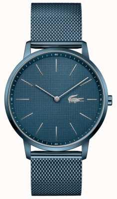 Lacoste Lua dos homens | pulseira de malha pvd azul | mostrador azul 2011057