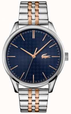 Lacoste Viena masculina | pulseira de aço inoxidável de dois tons | mostrador azul 2011048