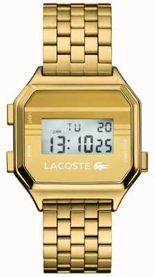 Lacoste Berlim display digital | pulseira de ouro pvd 2020138
