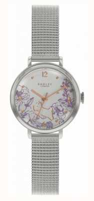 Radley | pulseira de malha de aço para mulher | mostrador floral RY4523