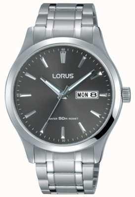 Lorus Mens pulseira de aço inoxidável mostrador cinza RXN35DX9