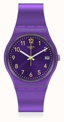 Swatch | gent original | relógio purplazing GV402
