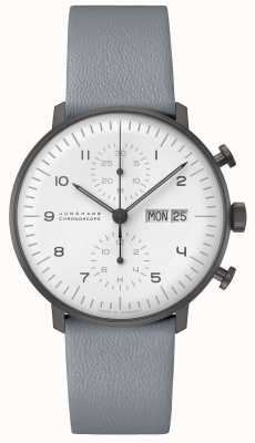Junghans Cronoscópio max bill | Ex-display 40mm preto e branco 027/4008.05 Ex-Display