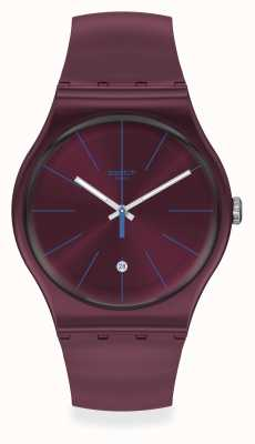 Swatch | gent original | relógio burgundazing SUOR402