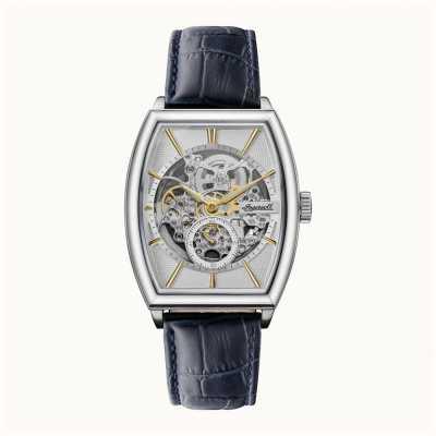 Ingersoll Homens   o produtor   automático   pulseira de couro azul I09701