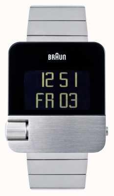 Braun Masculino | prestígio | digital | pulseira de aço inoxidável BN0106SLBTG