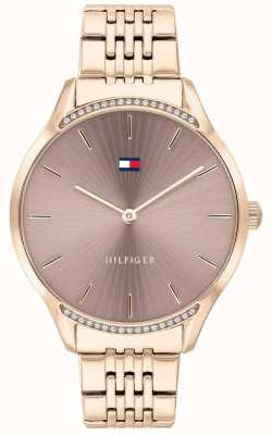 Tommy Hilfiger | cinza para mulher | pulseira banhada a ouro rosa | mostrador cinza 1782212