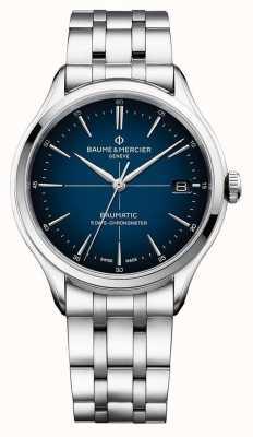 Baume & Mercier | clifton baumatic | pulseira de aço inoxidável | mostrador azul | M0A10468