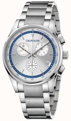 Calvin Klein | conclusão pulseira de aço inoxidável | mostrador prateado / azul | KAM27146