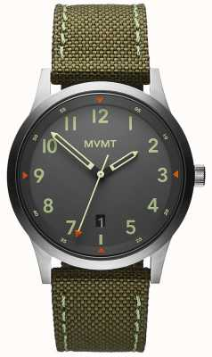 MVMT Homens | campo cinta de lona verde | mostrador cinza 28000014-D