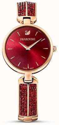 Swarovski Sonho rock vermelho / ouro rosa | rosto vermelho | 5519312