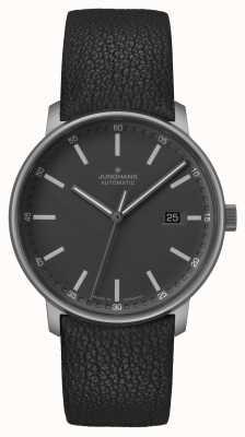 Junghans Formulário a | titan | automático | pulseira de couro preta | 027/2001.00