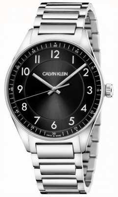 Calvin Klein | brilhante | pulseira de aço inoxidável | mostrador preto KBH21141