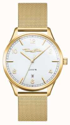 Thomas Sabo | glamour e alma | pulseira de malha dourada para mulher | mostrador branco WA0361-264-202-36